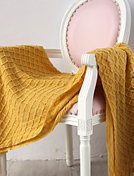 Недорогие -Многофункциональные одеяла, Сплошной цвет Акриловые волокна удобный одеяла