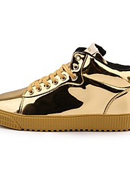 cheap -Men's Comfort Shoes Patent Leather Fall Sneakers Black / Gold / Silver
