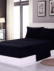cheap -Duvet Cover Sets Solid Colored Polyester / Polyamide Reactive Print 4 PieceBedding Sets