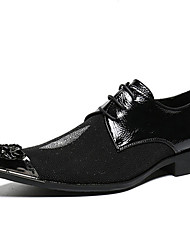 cheap -Men's Novelty Shoes Nappa Leather Spring & Summer / Fall & Winter Casual / British Oxfords Non-slipping Black / Party & Evening