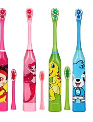 cheap -Children Electric Toothbrush Cartoon Pattern Double-sided Tooth Brush Electric Teeth Brush for Kids with 2pcs Replacement Head