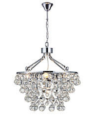 cheap -5-Light 48cm(18.9inch) Crystal Chandelier Metal Chrome Traditional / Classic 110-120V / 220-240V