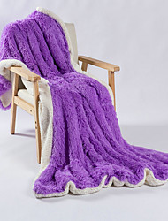 cheap -Multifunctional Blankets, Solid Color Polar Fleece Comfy Blankets