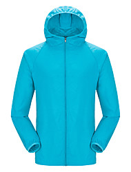 cheap -Women's Hiking Jacket Outdoor Windproof UV Resistant Stretchy Jacket Top Elastane Single Slider Camping / Hiking / Caving Black / White / Sky Blue / Orange / Yellow