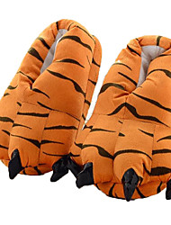 cheap -Adults' Kigurumi Pajamas Slippers Tiger Animal Onesie Pajamas Polyester Cotton Orange Cosplay For Men and Women Animal Sleepwear Cartoon Festival / Holiday Costumes / Shoes