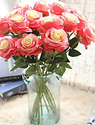 Недорогие -красивые розы искусственные цветы шелк маленький букет вечеринка весна свадебные украшения поддельные цветы
