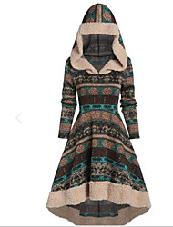 cheap -Women's A Line Dress - Solid Colored Gray M L XL XXL