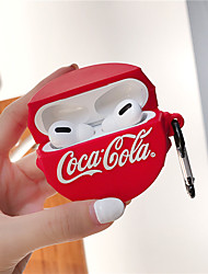 cheap -Silicone Shockproof Cute Coca Cola Earphone Case for Apple Airpods Pro Wireless Bluetooth Headset Cover Air Pods Pro 3 Accessories Funda