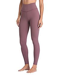 abordables -Femme Pantalon de yoga Poche Couleur unie Violet Spandex Maille Zumba Course / Running Danse Leggings Sport Tenues de Sport Respirable Design Anatomique Compression Push Up Haute élasticité Slim