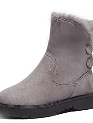 cheap -Women's Boots Flat Heel Round Toe Suede Booties / Ankle Boots Fall & Winter Black / Gray