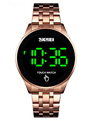 cheap -SKMEI Men's Digital Watch Digital Sporty Stainless Steel Black / Silver / Gold Water Resistant / Waterproof Calendar / date / day New Design Digital Outdoor - Black Rose Gold Gold Two Years Battery