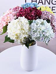 Недорогие -1 шт. Моделирования 11 вилка цветочные гортензии дома свадебные украшения цветок 55 см