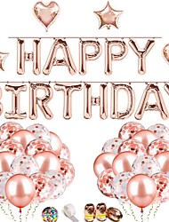 cheap -Rose Gold Confetti Latex Balloons,  Birthday Balloons  Rose Gold Ribbon for Party Wedding Bridal Shower Decorations