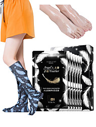 Недорогие -6 пар маска для ног отшелушивающий питательный увлажняющий педикюр маска для ног длинная вулканическая грязевая маска для ног