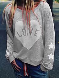 cheap -Women's Casual / Cute Sweatshirt - Heart Black S