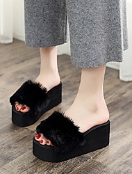 cheap -Women's Slippers House Slippers Casual Terry solid color Shoes