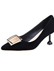 cheap -Women's Heels Stiletto Heel Pointed Toe Rivet Satin Casual / Minimalism Spring &  Fall / Spring & Summer Black / Almond / Red