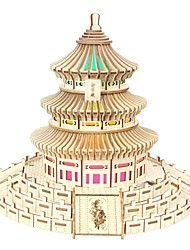 Недорогие -3D пазлы Деревянные пазлы Китайская архитектура моделирование Ручная работа деревянный 278 pcs Детские Взрослые Все Игрушки Подарок