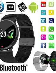 cheap -Smartwatch Digital Modern Style Sporty Silicone 30 m Water Resistant / Waterproof Heart Rate Monitor Bluetooth Digital Casual Outdoor - Black Brown Black / Gray