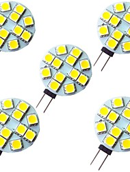 cheap -5pcs 2 W LED Bi-pin Lights 200 lm G4 12 LED Beads SMD 5050 Warm White White 12 V