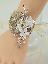 "cheap -Wedding Flowers Wrist Corsages Wedding Party / Birthday Party Silk / Organza / Metal 5.91""(Approx.15cm)"