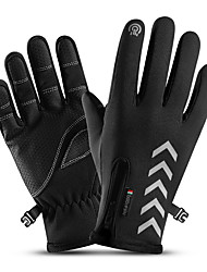 cheap -Winter Gloves Running Gloves Full Finger Gloves Anti-Slip Touch Screen Thermal Warm Cold Weather Men's Women's Hiking Running Driving Cycling Texting Winter / Lightweight / Reflective Strips