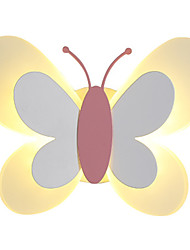 cheap -LED Children Room Wall Lamp Nordic Modern Simple Cartoon Personality Butterfly Wall Lamp Boys And Girls Room Lamp 15W