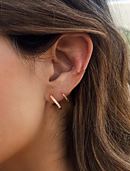 cheap -Women's Ear Piercing Earrings Vintage Style Precious Earrings Jewelry Gold / White / Rose Gold For Engagement Daily Prom Club Bar