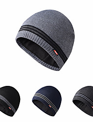 cheap -Skull Caps Running Beanie Men's Women's Solid Colored Headwear Thermal / Warm Windproof Breathable for Running Fitness Jogging Sweater Autumn / Fall Spring Winter Black Dark Grey Grey