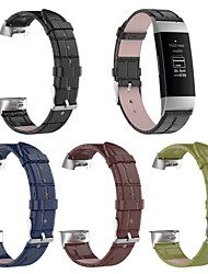 cheap -Watch Band for Fitbit Charge 3 / 3SE Fitbit High-end Leather Loop Genuine Leather Band Wrist Strap
