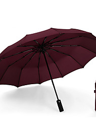 cheap -12Ribs  Automatic Inverted Folding Umbrella - Compact Lightweight Windproof Travel Reverse Car Umbrellas for Men Women