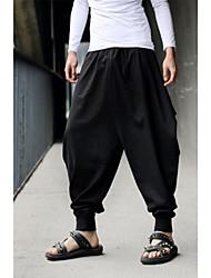 cheap -Men's Basic Harem Pants - Solid Colored Black Army Green US34 / UK34 / EU42 US36 / UK36 / EU44 US38 / UK38 / EU46