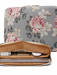 cheap -13.3 14.1 15.6 inch Universal Rose Pattern Canvas Water-resistant Shock Proof Laptop Sleeve Case Bag for Macbook/Surface/Xiaomi/HP/Dell/Samsung/Sony Etc