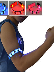 cheap -LED Running Armband 1 Piece Luminous Nylon for Running / Cycling / Bike / Jogging White / Red / Blue Battery Powered