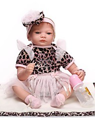 cheap -NPK DOLL Reborn Doll Baby 22 inch Silicone Vinyl - Newborn lifelike Cute Hand Made Child Safe Non Toxic Kid's Girls' Toy Gift / Lovely / CE Certified / Natural Skin Tone / Floppy Head