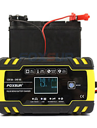 cheap -Foxsur Fully automatic Car Battery Charger 12V 8A 24V 4A Smart Fast Charging for AGM GEL WET Lead Acid Battery Charger LCD Display