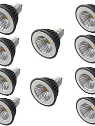 cheap -10pcs 5 W LED Spotlight 400 lm GU10 GU10 1 LED Beads COB Warm White White 110-240 V