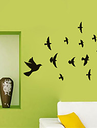cheap -Decorative Wall Stickers - Plane Wall Stickers Birds Study Room / Office / Kids Room