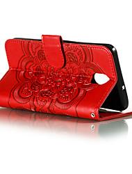 cheap -Phone Case For LG Full Body Case Leather LG V40 LG K30 LG G8 LG K50 Card Holder Geometric Pattern PU Leather