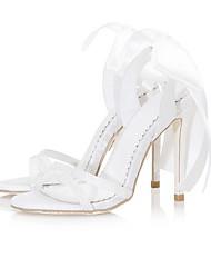 abordables -Femme Chaussures de mariage Talon Aiguille Bout ouvert Polyuréthane Printemps été Blanche / Bleu / Rose