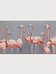 cheap -Oil Painting Hand Painted - Abstract Animals Modern Stretched Canvas