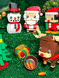 cheap -Building Blocks 200-400 pcs Snowman Santa Claus Christmas Santa Suits compatible ABS+PC Legoing Simulation All Toy Gift / Kid's