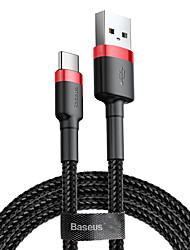 cheap -Baseus cafule Cable USB For Type-C 3A 0.5M RedRed/Gray/Black