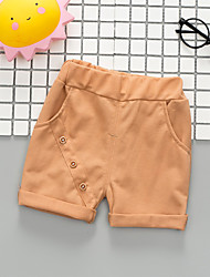 cheap -Baby Boys' Basic Print / Solid Colored Shorts Light Brown