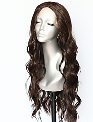 cheap -Synthetic Lace Front Wig Body Wave Middle Part Lace Front Wig Long Brown Synthetic Hair 18-26 inch Women's Heat Resistant Synthetic Easy dressing Dark Brown / Natural Hairline