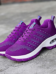 cheap -Women's Athletic Shoes Flat Heel Round Toe Mesh Running Shoes Fall & Winter Black / Light Purple / Red