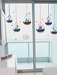 cheap -SK7119 water drop glass hanging ball succulent plant chandelier living room bedroom background decoration removable sticker