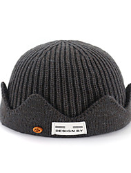 cheap -Unisex Active Basic Acrylic Knitwear Beanie / Slouchy-Solid Colored All Seasons Black Wine Light gray
