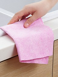 cheap -Kitchen Cleaning Supplies Non-woven Fabrics Cleaning Brush & Cloth Form Fit 1pc