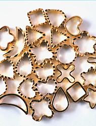 cheap -1pcs Nail Art Metal Accessories Hollow Metal Ring
